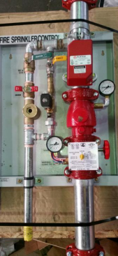 Residential Control Valve Assy on Backing Board