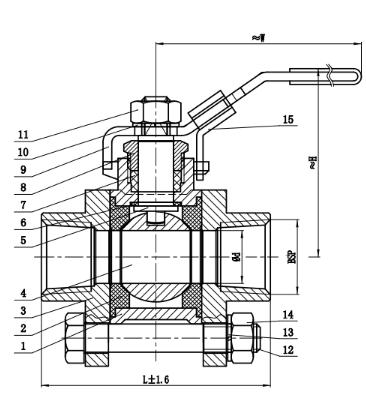 3 piece ball valve specs